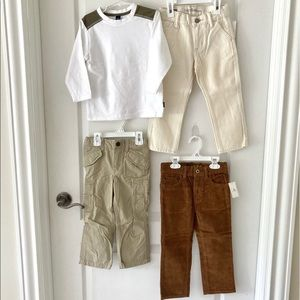 Gap set of 3 NWT pants and 1 long sleeve T size 3